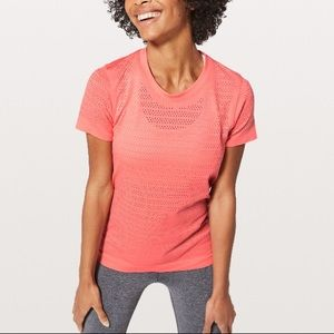 Lululemon | Breeze by Short Sleeve Squad Coral 6